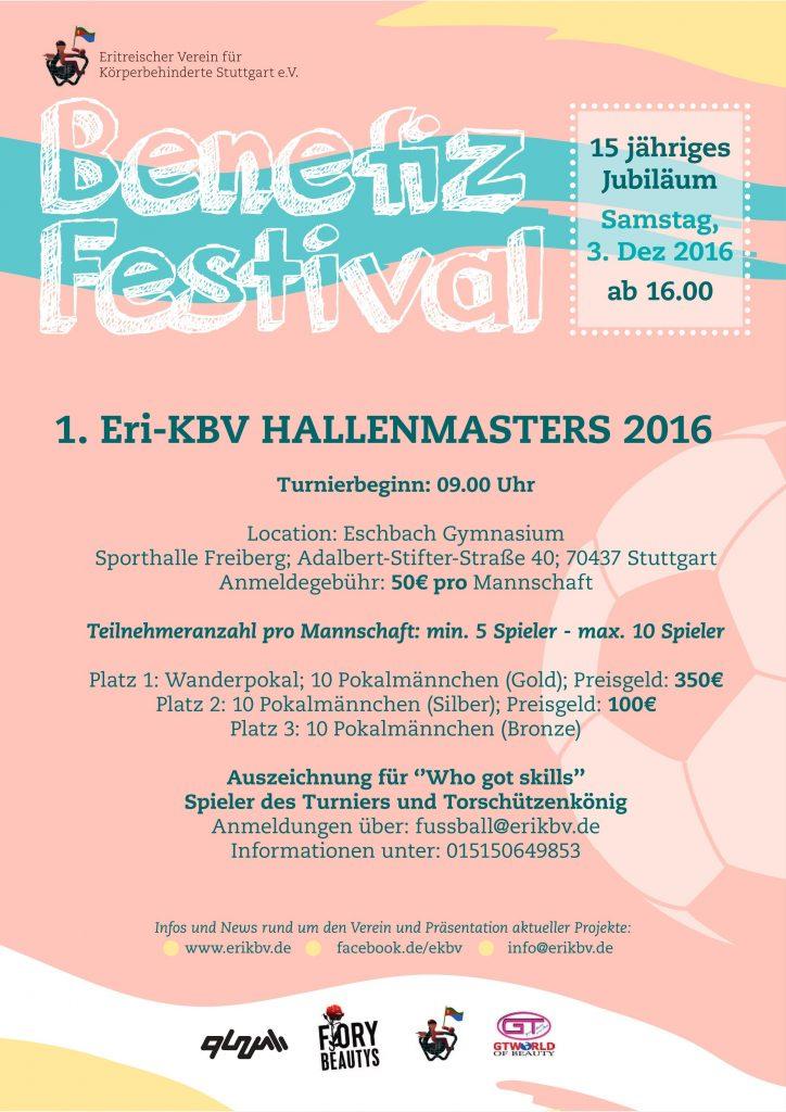 einladung zum 1. eri-kbv hallenmasters 2016 – eritreischer verein, Einladung